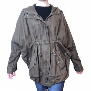 Free People Olive Green Military Style Jacket